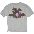 ADVENTURE TIME LSP WOLVES PX SILVER T/S LG