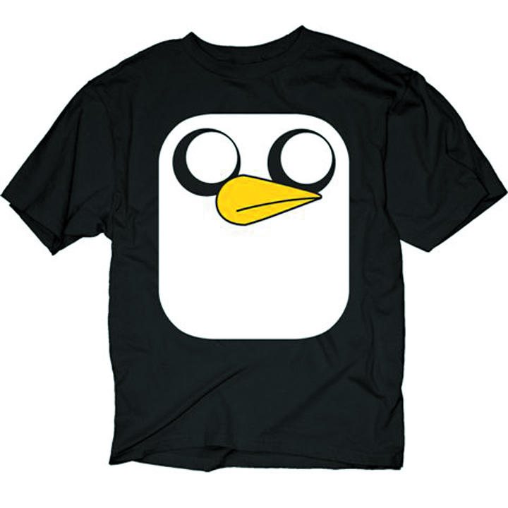 ADVENTURE TIME GUNTER FACE PX BLK T/S LG