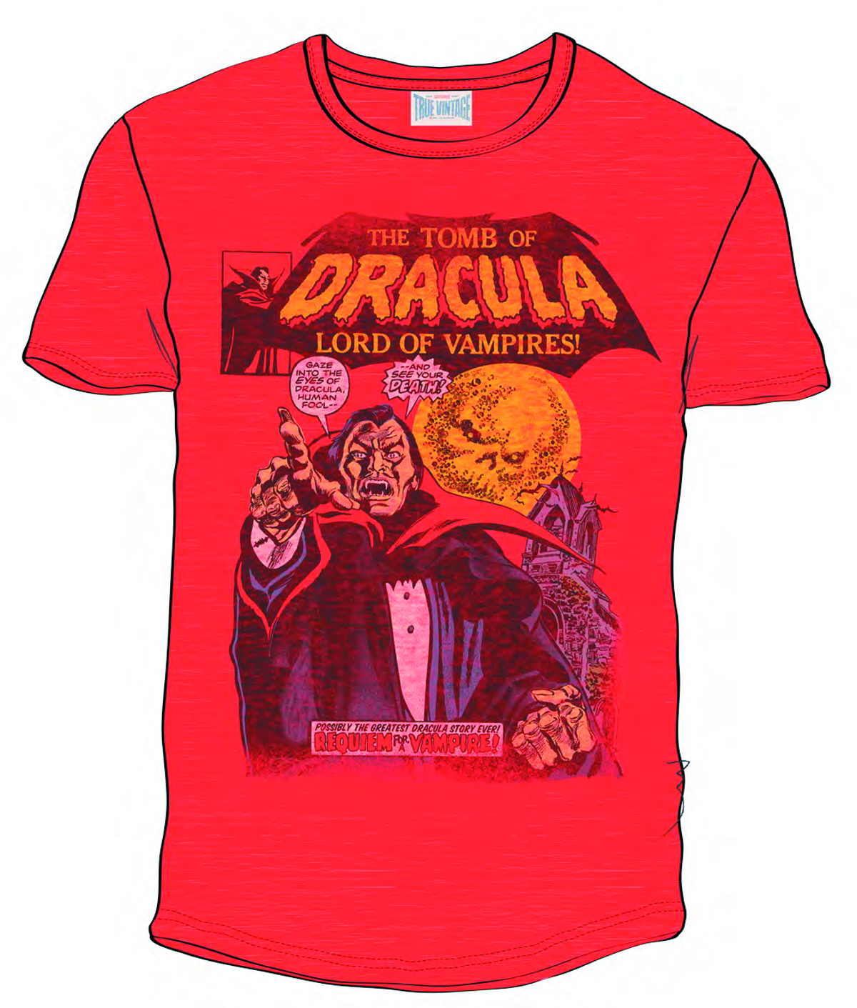 TOMB OF DRACULA PX RED T/S MED