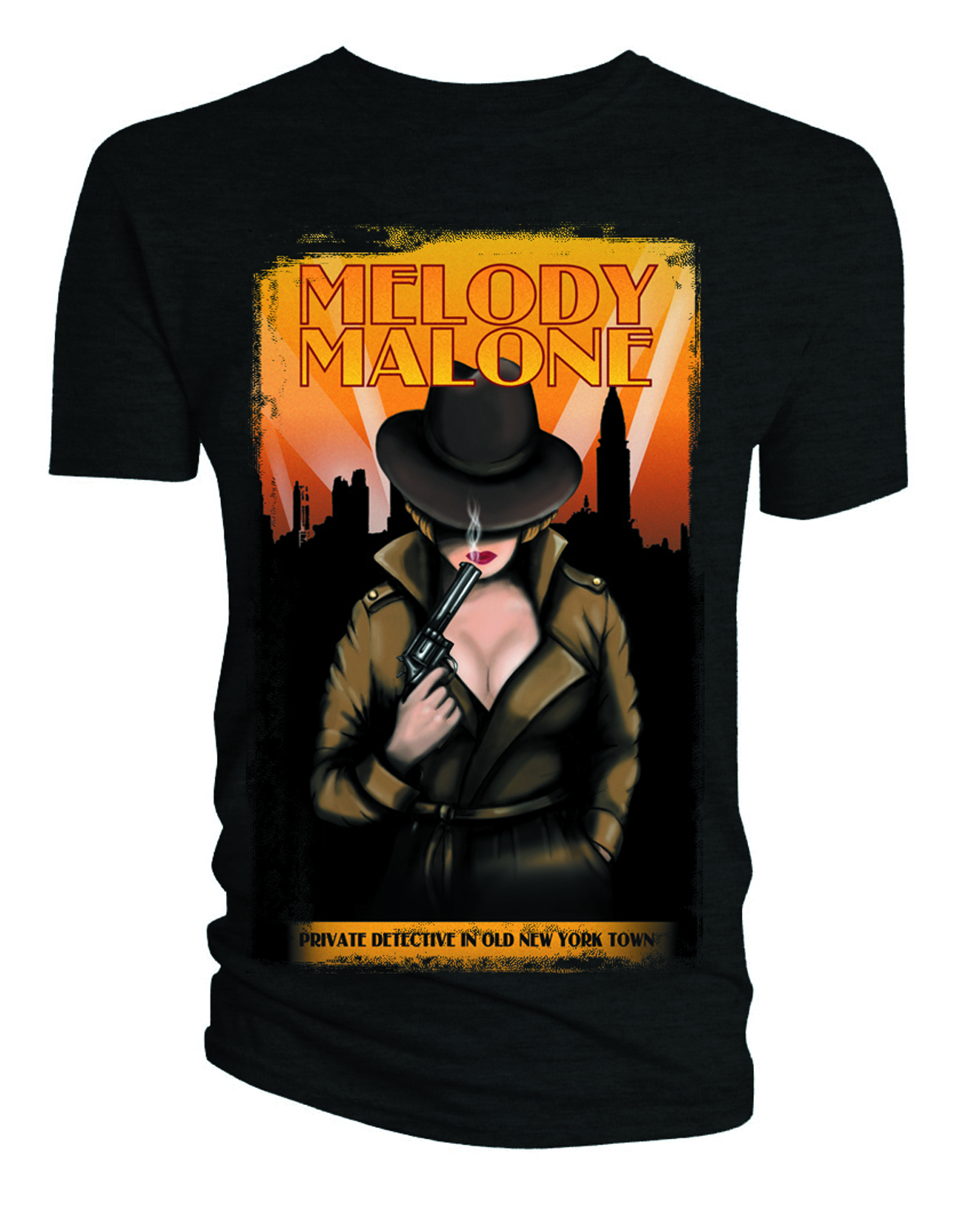 DOCTOR WHO MELODY MALONE BLK T/S MED