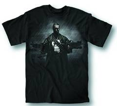 PUNISHER TWO GUNS NO WAITING PX BLK T/S MED