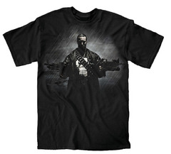 PUNISHER TWO GUNS NO WAITING PX BLK T/S XXL