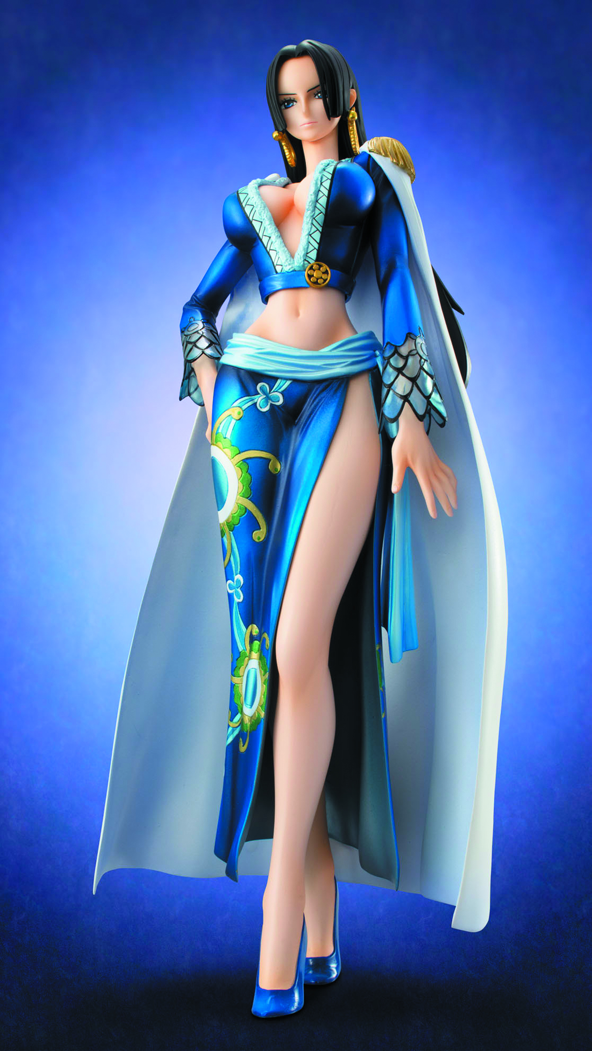 ONE PIECE POP BOA HANCOCK EX MODEL PVC FIG BLUE VER