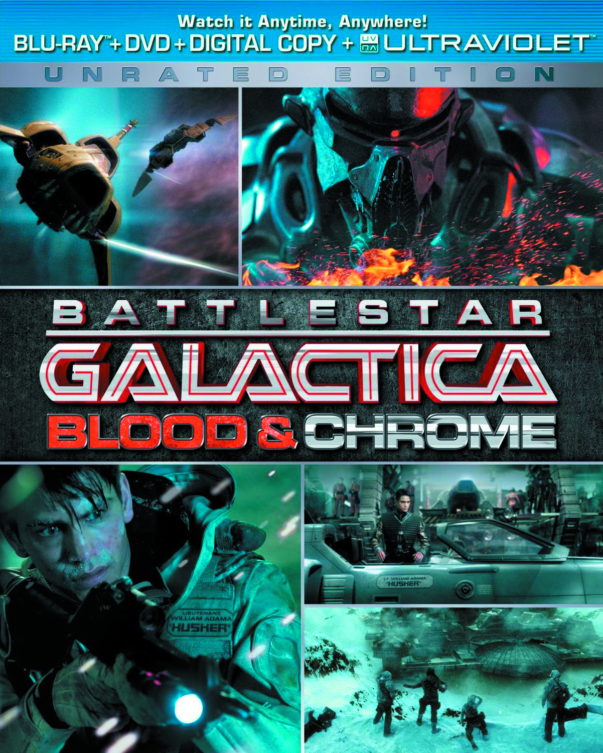 BATTLESTAR GALACTICA BLOOD & CHROME DVD