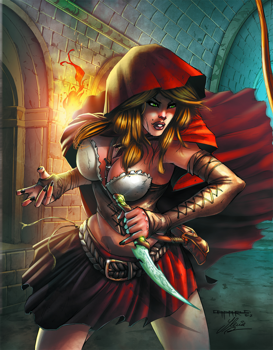 GFT ROBYN HOOD VS RED RIDING HOOD #1 C CVR CAFARO