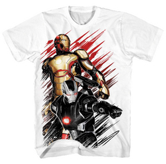 IRON MAN 3 50CALIBER-M PX WHITE T/S MED