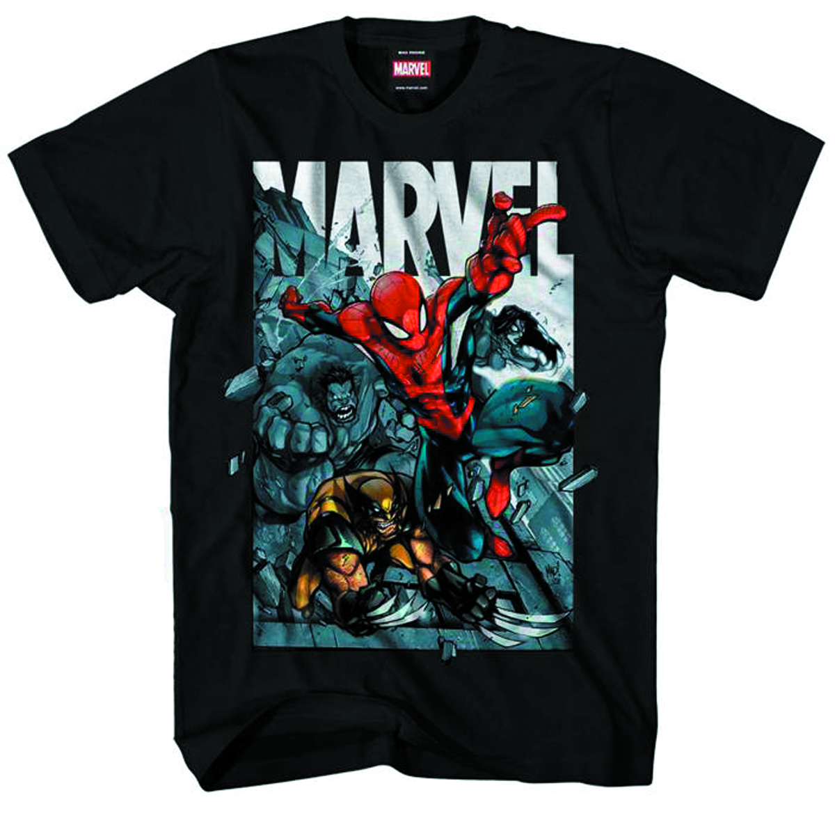 MARVEL HEROES AN HOMAGE TO BLK T/S MED