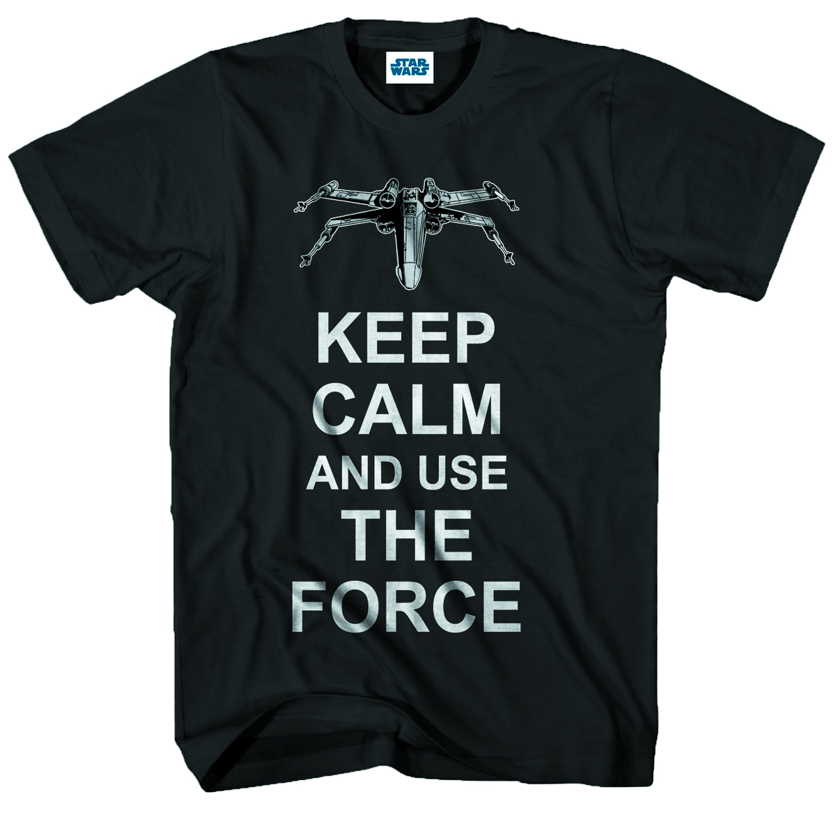 STAR WARS CALM FORCE BLK T/S LG