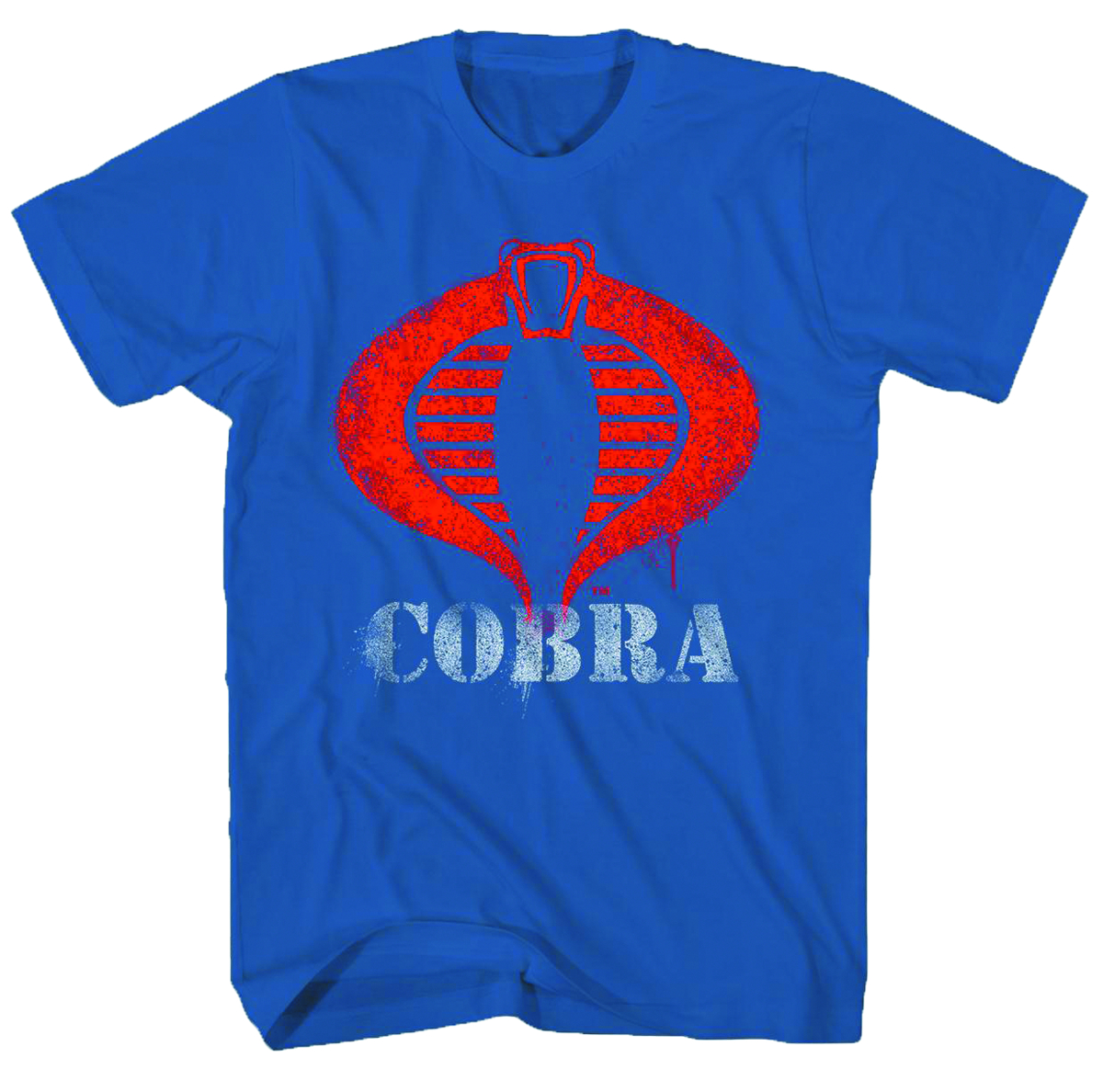 GI JOE COBRA LOGO PAINT NAVY T/S LG