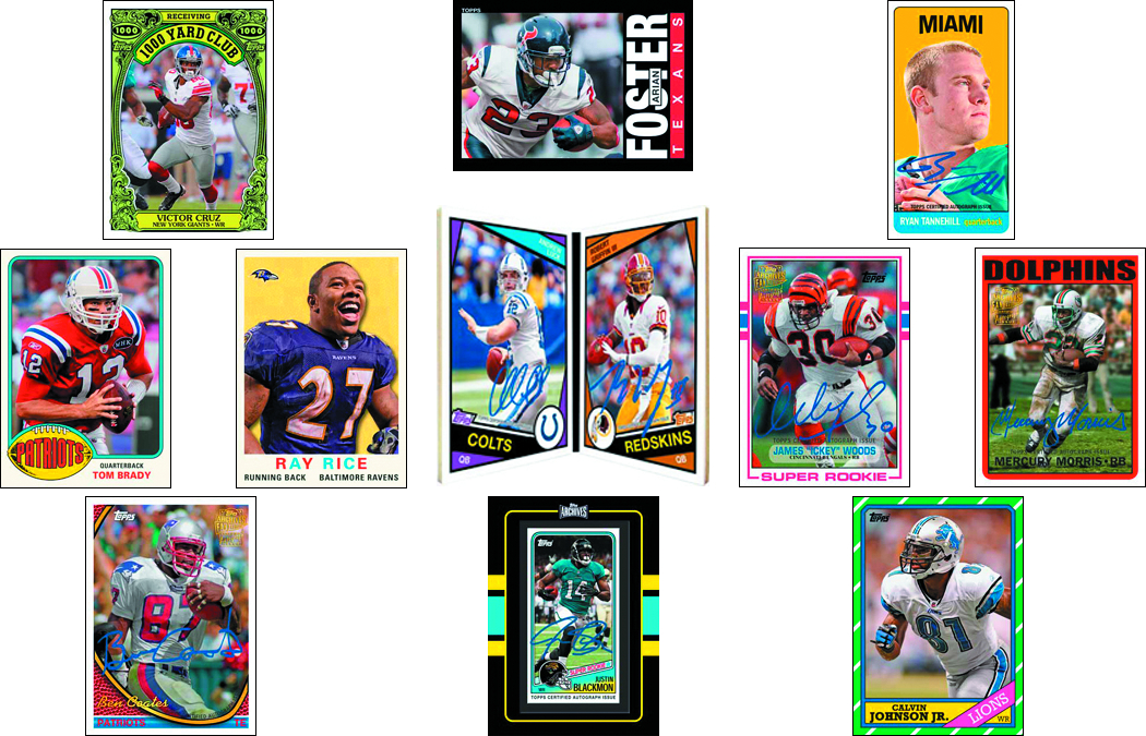 TOPPS 2013 ARCHIVES FOOTBALL T/C BOX