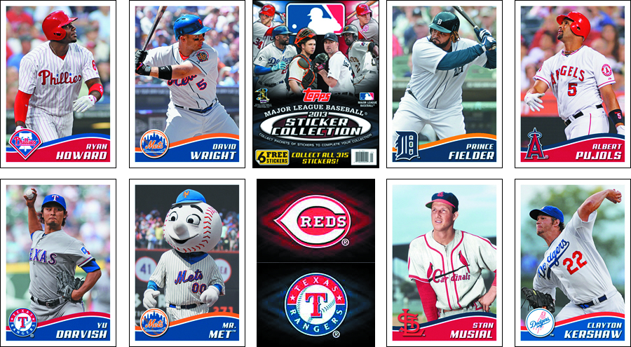 TOPPS 2013 BASEBALL STICKER COLLECTION BOX