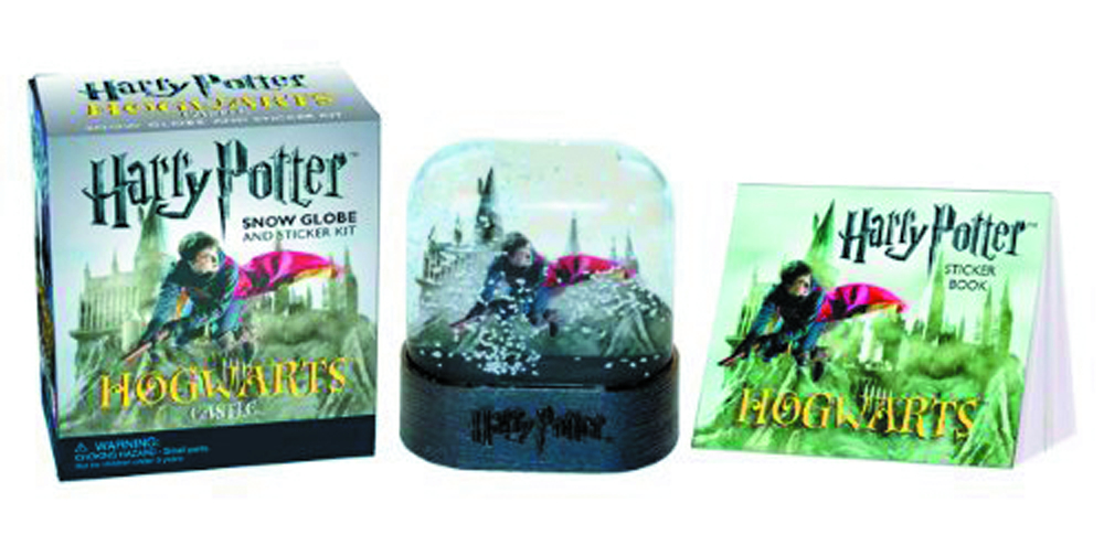 HARRY POTTER HOGWARTS CASTLE SNOW GLOBE & STICKER KIT