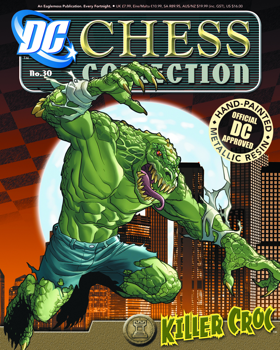 DC SUPERHERO CHESS FIG COLL MAG #30 KILLER CROC BLACK ROOK