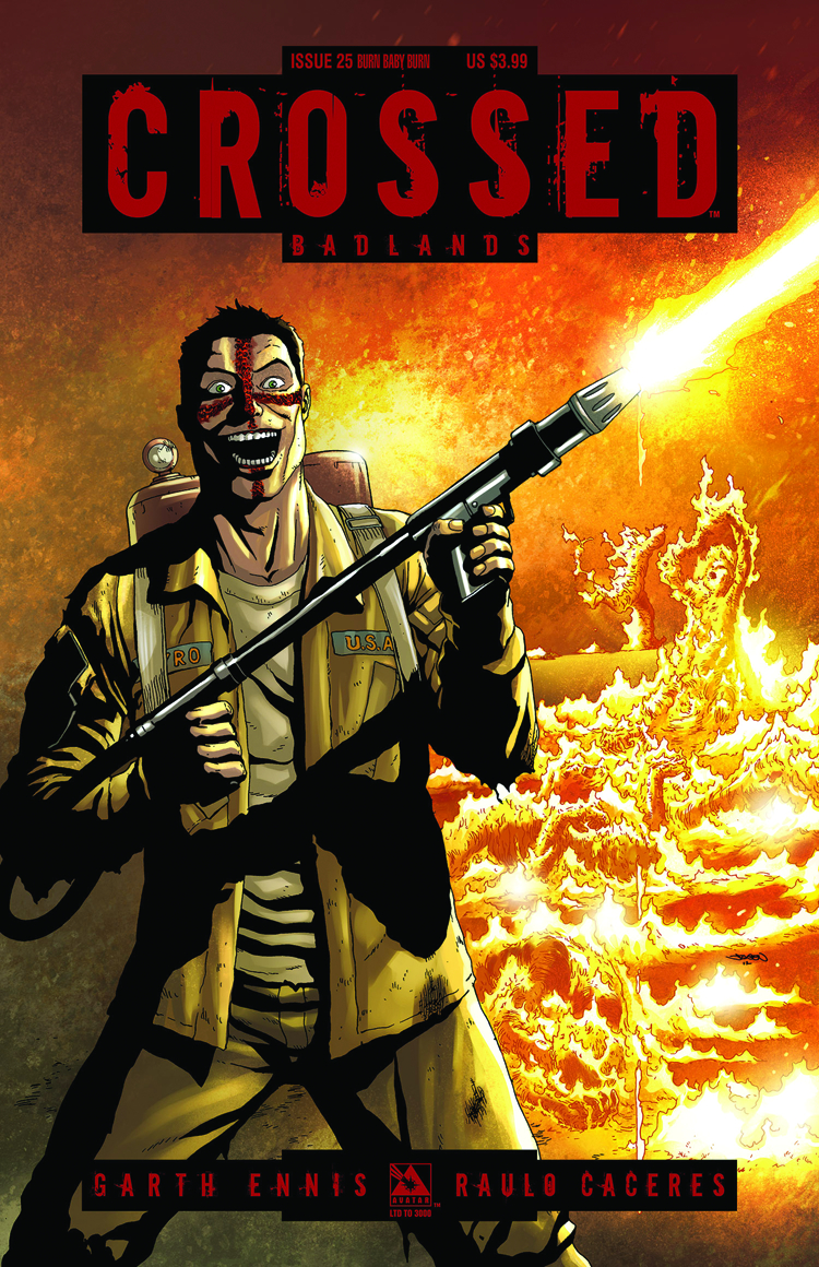 CROSSED BADLANDS #25 BURN BABY BURN CVR