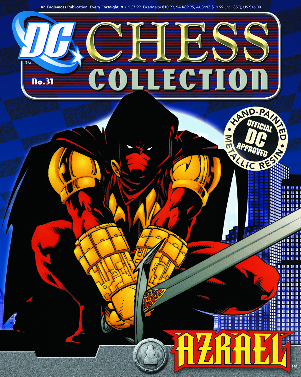 DC SUPERHERO CHESS FIG COLL MAG #31 AZRAEL WHITE PAWN