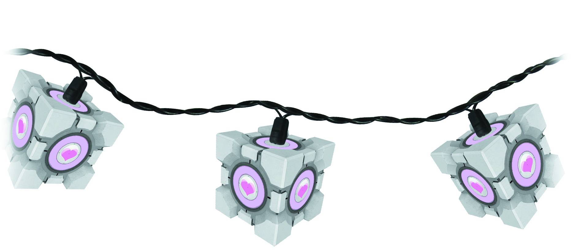 PORTAL COMPANION CUBE STRING LIGHTS