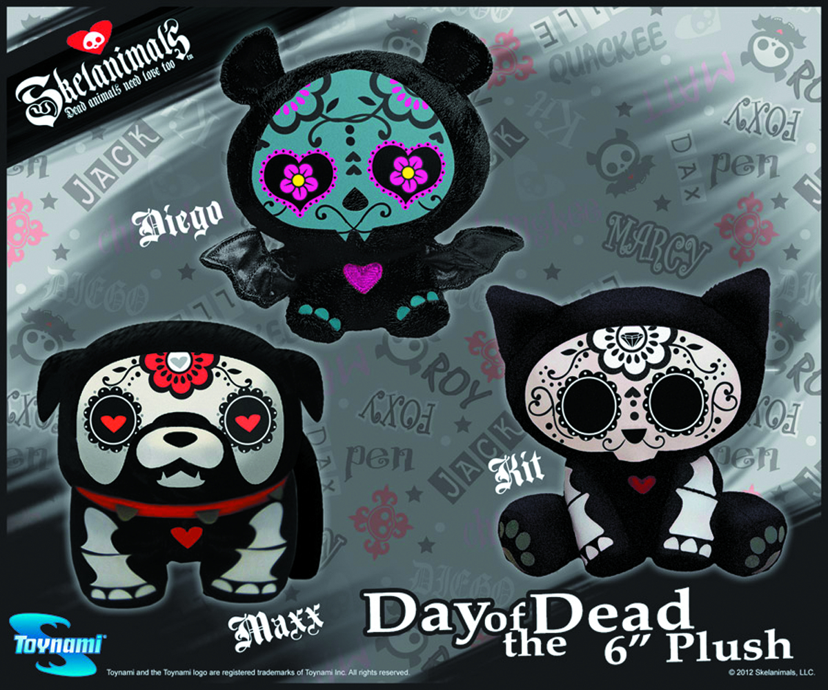 SKELANIMALS DAY OF THE DEAD KIT MINI PLUSH