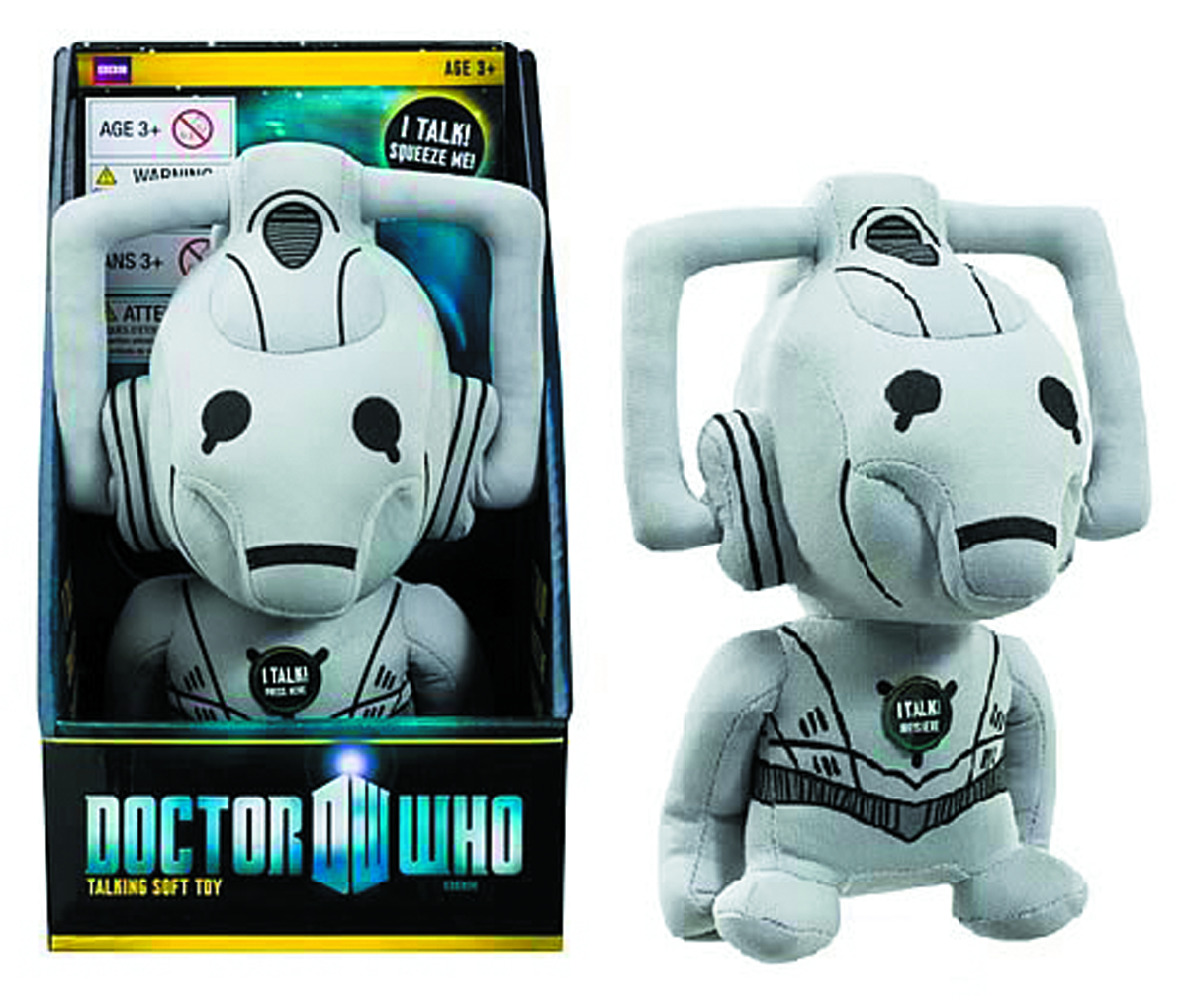 DOCTOR WHO MEDIUM TALKING CYBERMAN PLUSH
