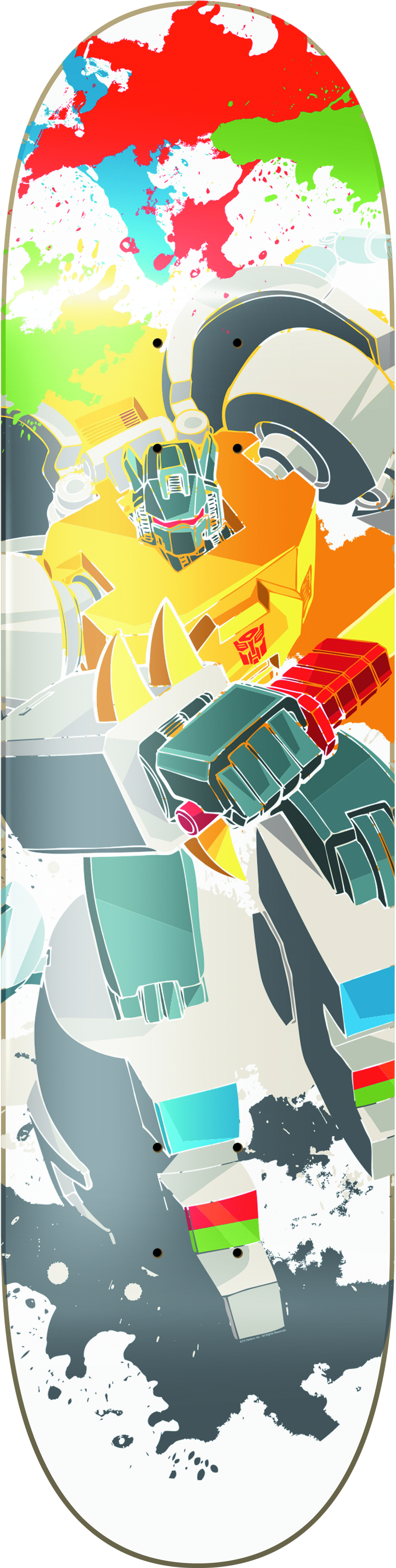 TLS X TRANSFORMERS GRIMLOCK PAINT SKATEBOARD DECK