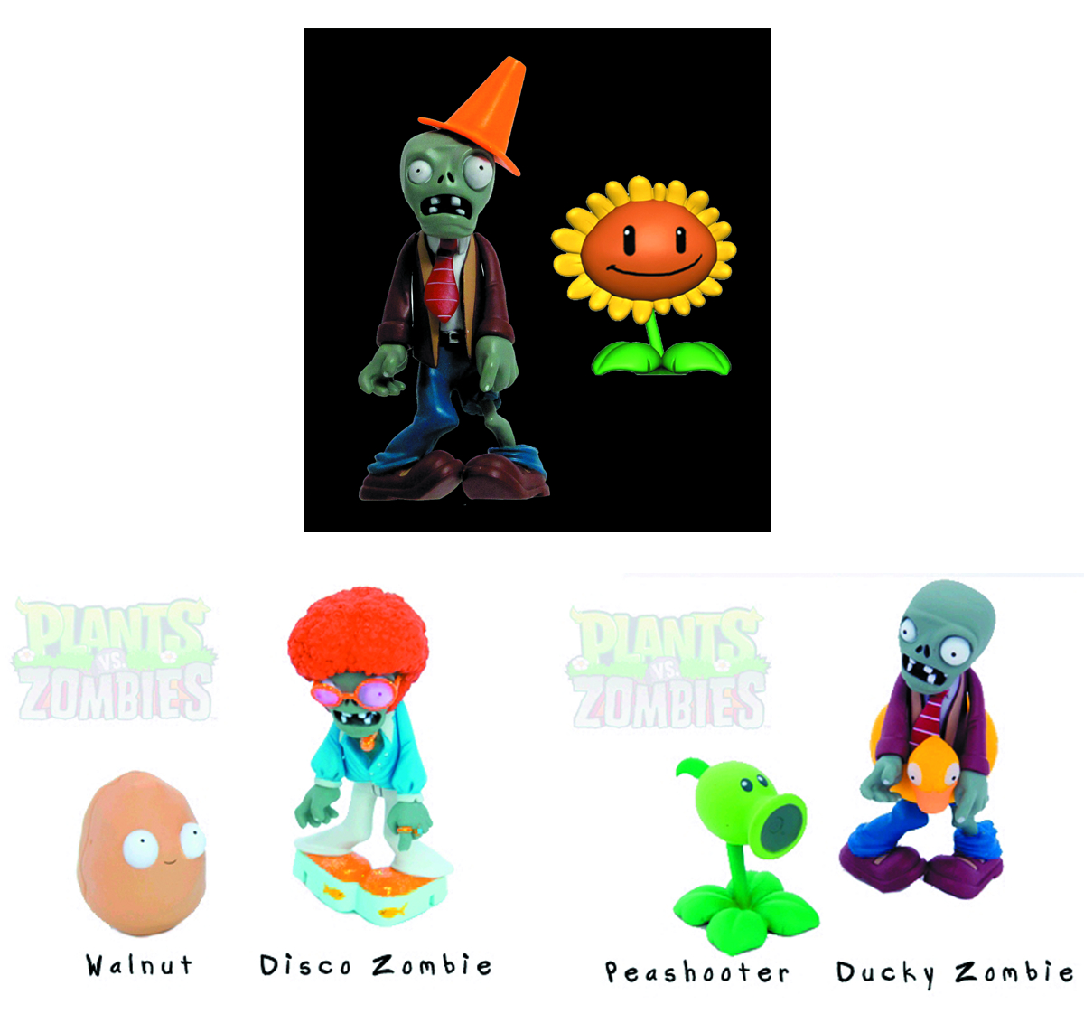 PLANTS VS ZOMBIES 3-IN FIG ASST