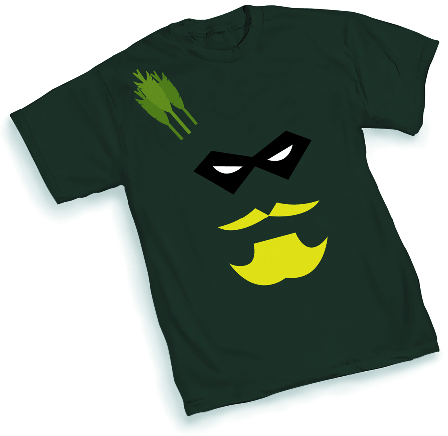 GREEN ARROW FACE T/S XL