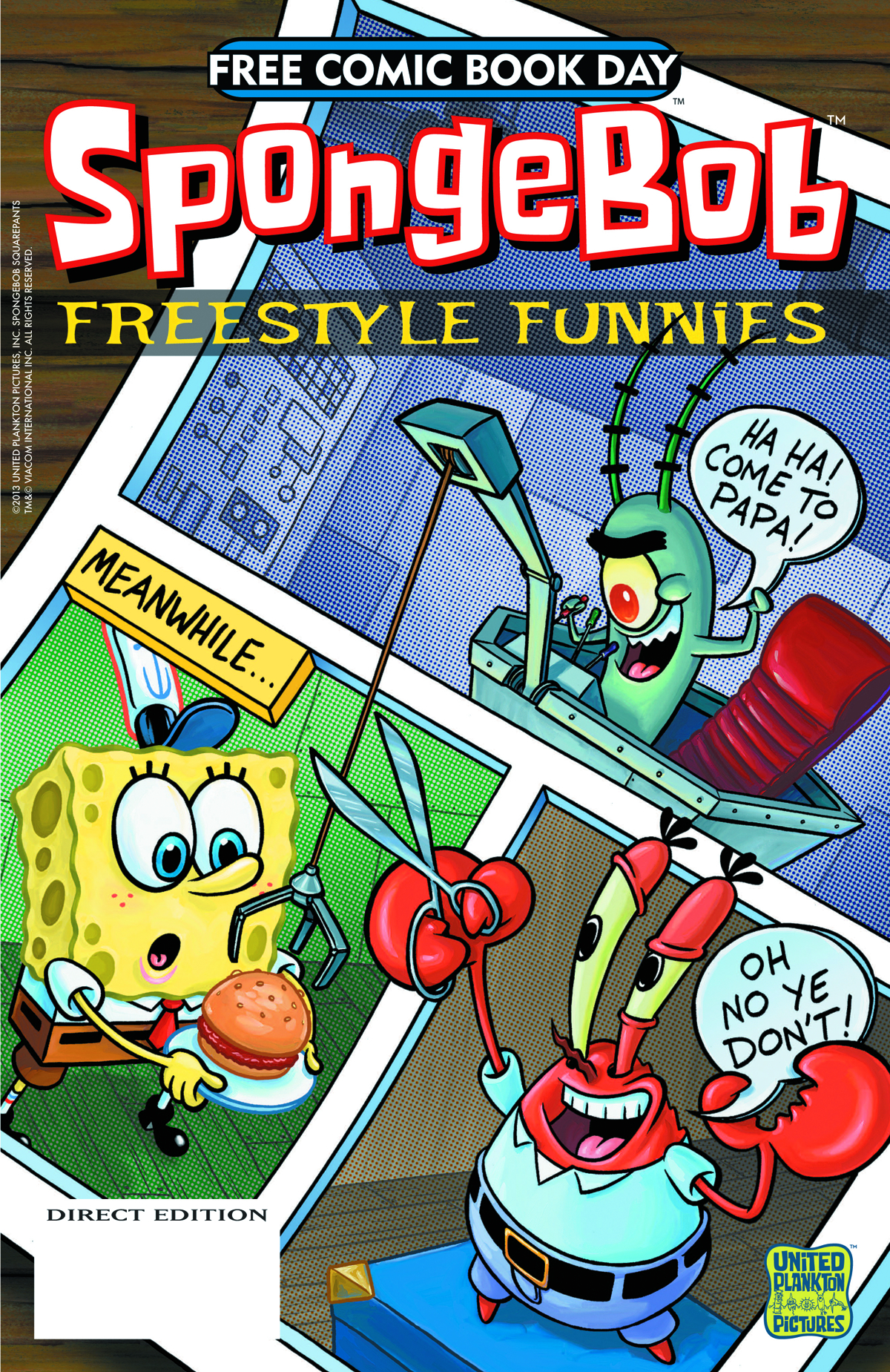 FCBD 2013 SPONGEBOB COMICS FREESTYLE FUNNIES