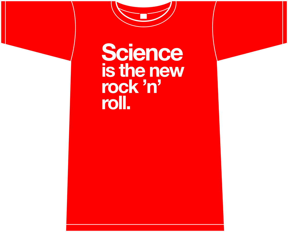 NOWHERE MEN SCIENCE I/T NEW ROCK N ROLL WOMENS RED T/S LG