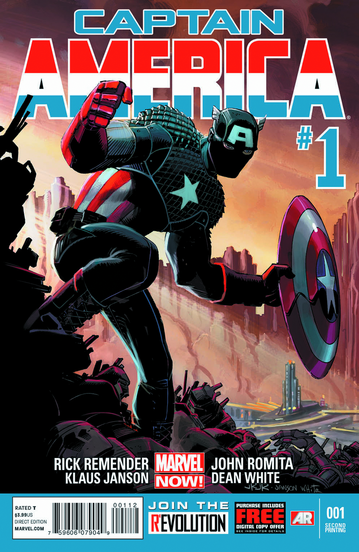 CAPTAIN AMERICA #1 2ND PTG JRJR VAR NOW