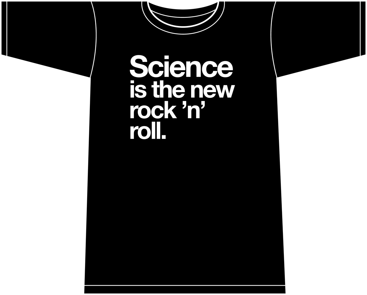 NOWHERE MEN SCIENCE I/T NEW ROCK N ROLL WOMENS BLACK T/S LG