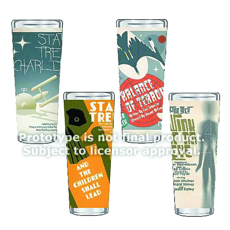 ST TOS FINE ART SHOT GLASS 4PC SER 2 SET