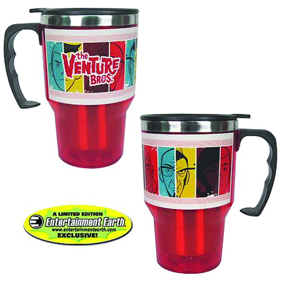 VENTURE BROS RETRO 14OZ TRAVEL MUG