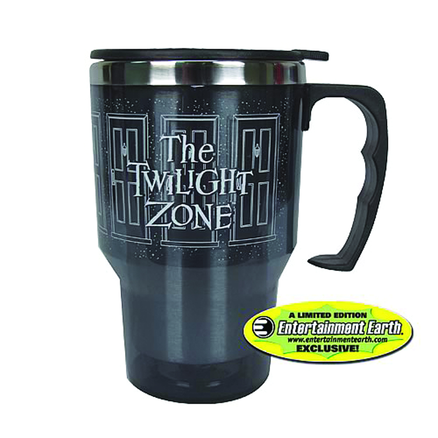 TWILIGHT ZONE DOORWAY 14OZ TRAVEL MUG