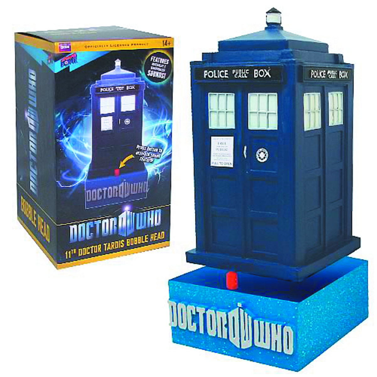 DOCTOR WHO 50TH ANN TARDIS BOBBLE HEAD W/SOUND