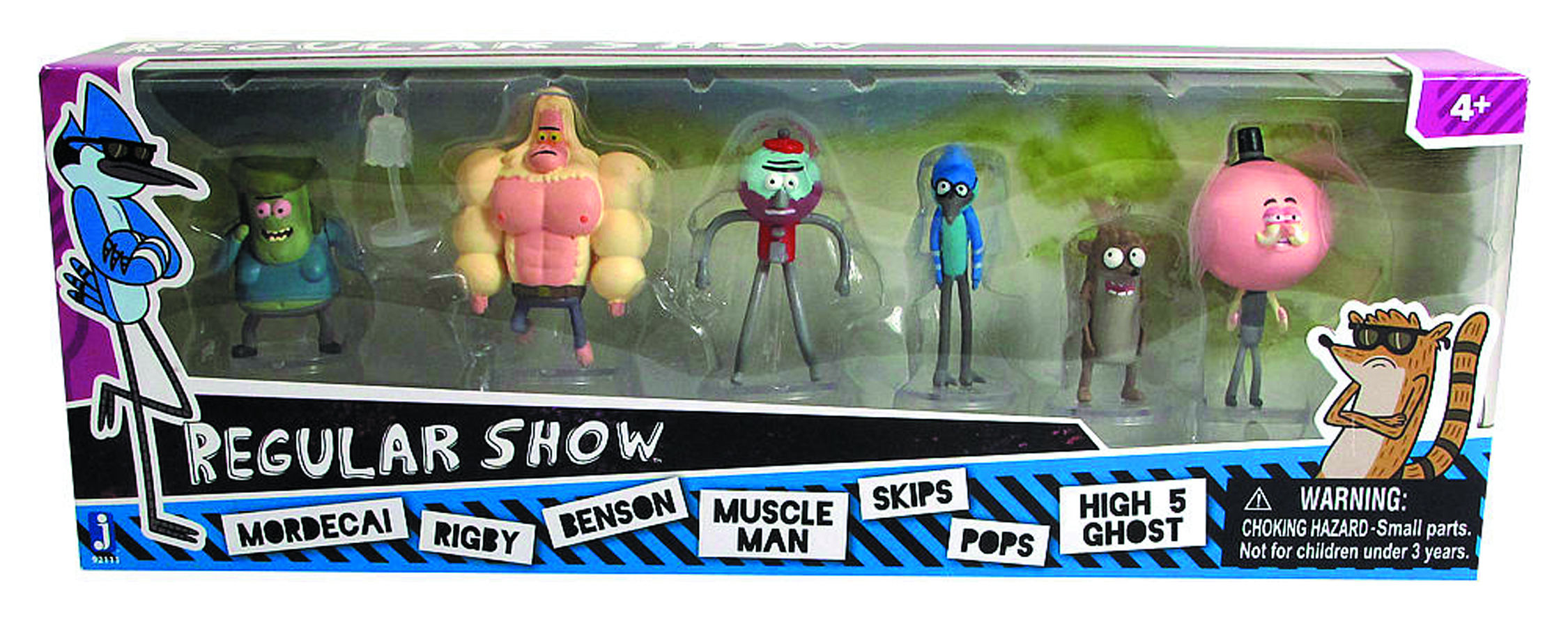 REGULAR SHOW MINI-FIG 6PK CS