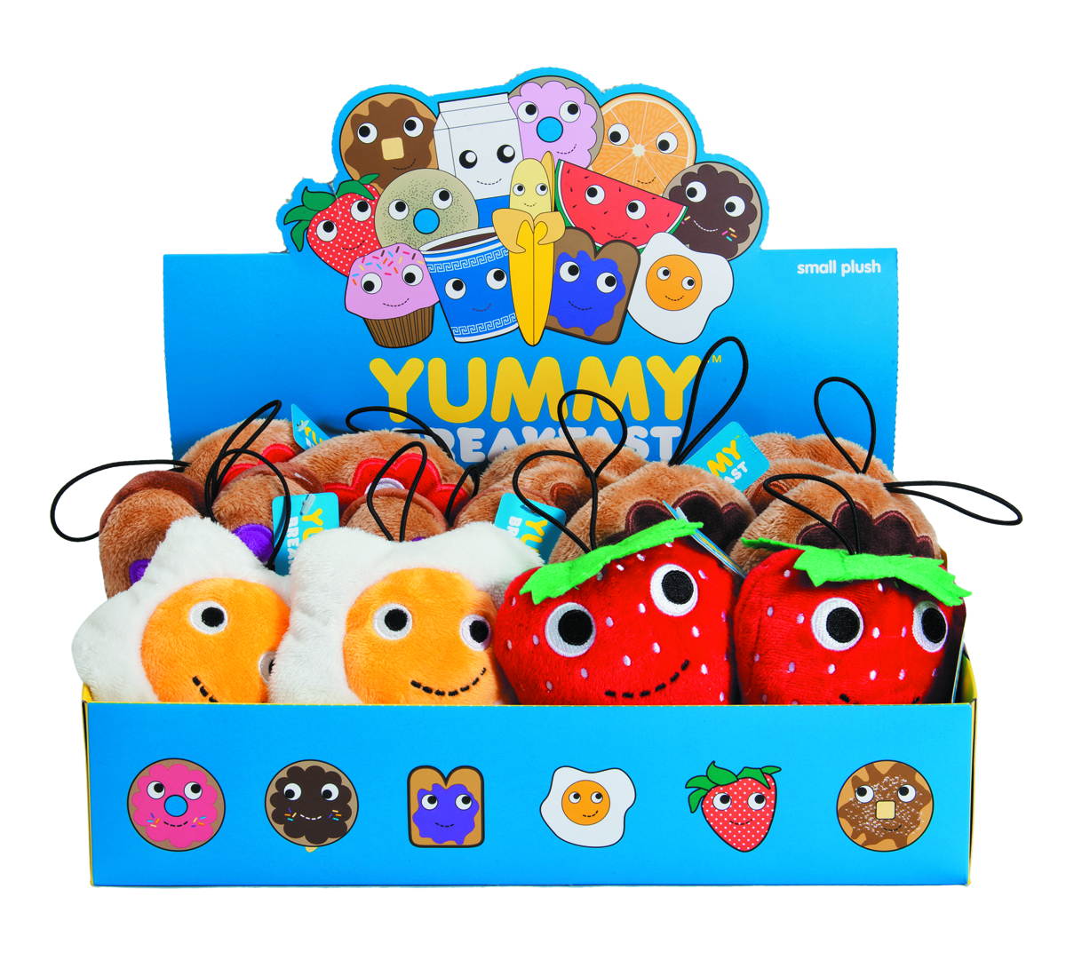 YUMMY SMALL PLUSH 12PC ASST