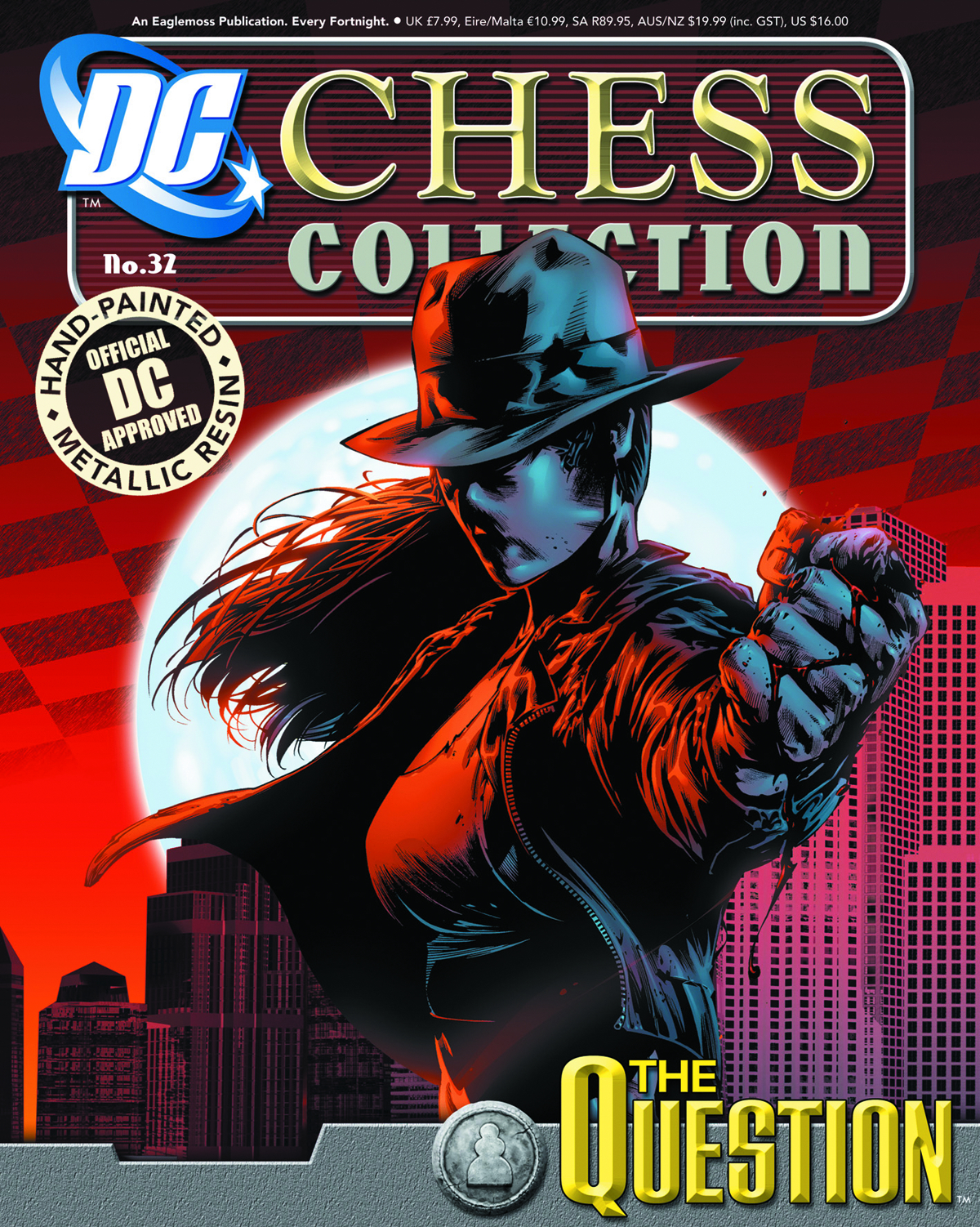 DC SUPERHERO CHESS FIG COLL MAG #32 QUESTION & SUPERMAN 2 PK