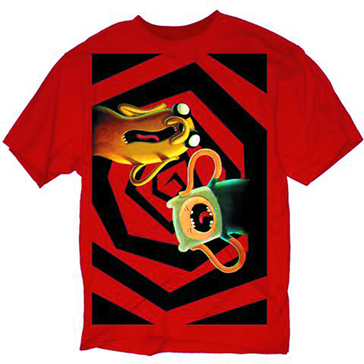 ADVENTURE TIME NO ONE CAN HEAR YOU PX RED T/S SM