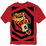 ADVENTURE TIME NO ONE CAN HEAR YOU PX RED T/S LG