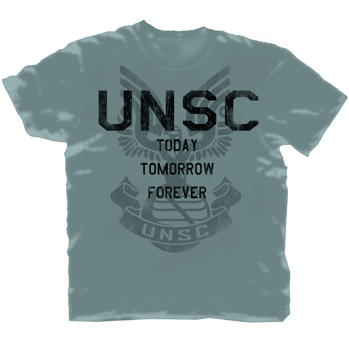 HALO 4 UNSC FOREVER PX CHARCOAL T/S LG