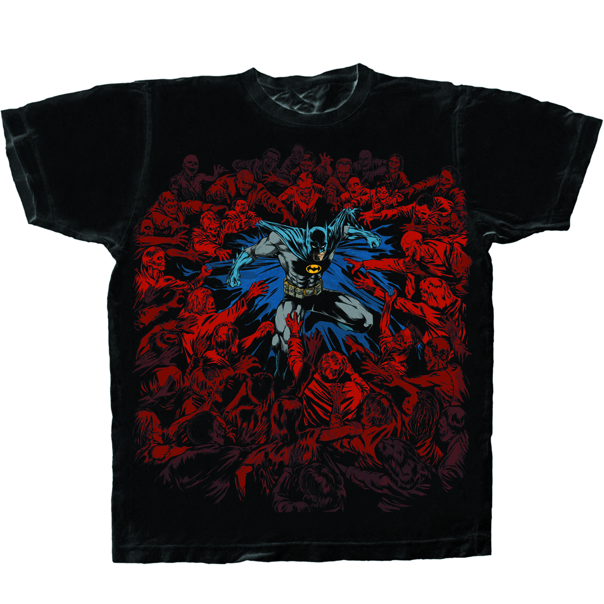 BATMAN DEFENSE BLK T/S MED