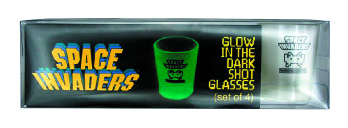 SPACE INVADERS SHOT GLASSES 4PC SET