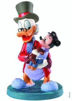 WDCC SCROOGE MCDUCK & TINY TIM STATUE