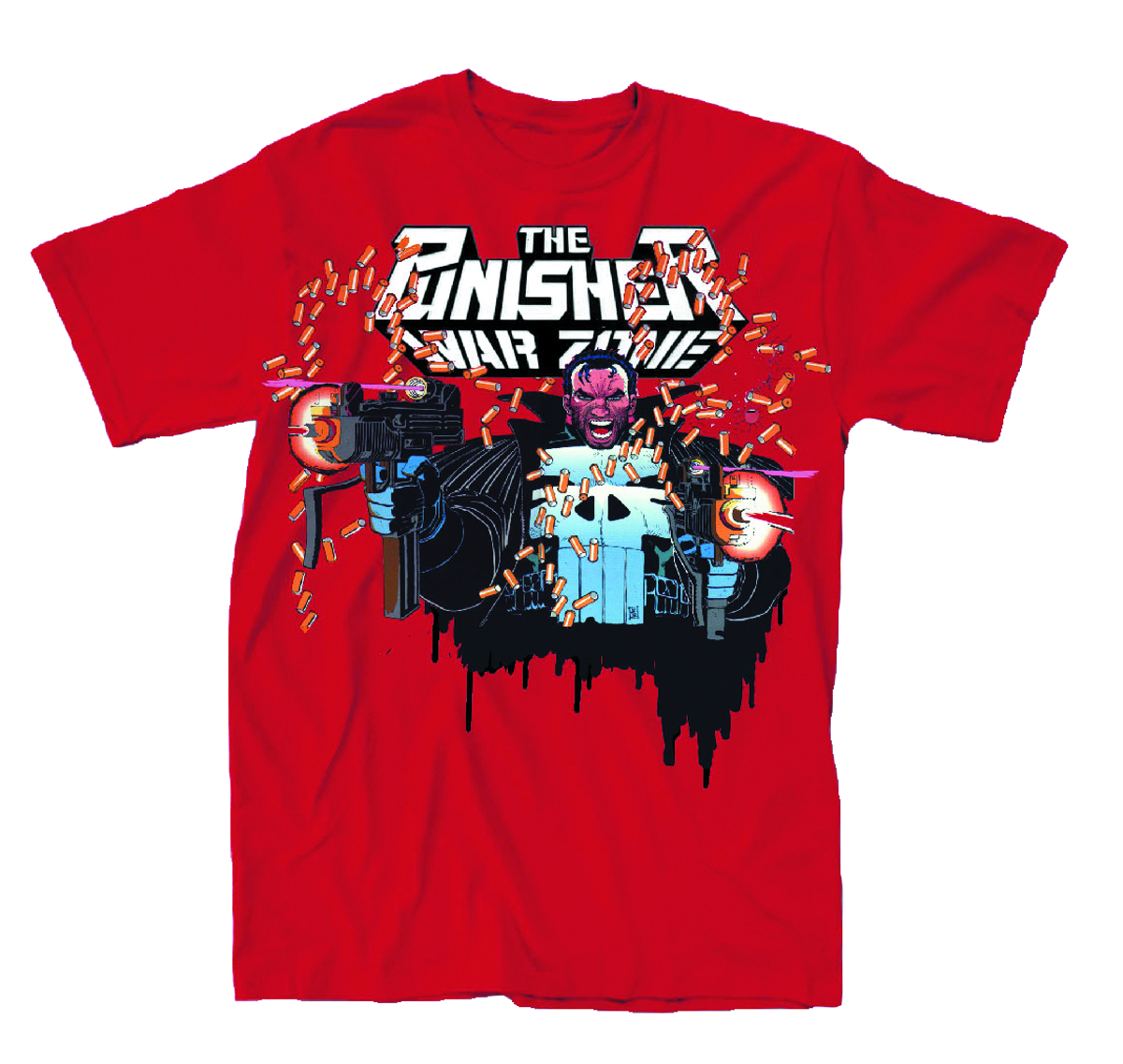 PUNISHER WARZONE PX RED T/S SM