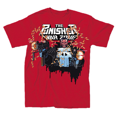 PUNISHER WARZONE PX RED T/S LG