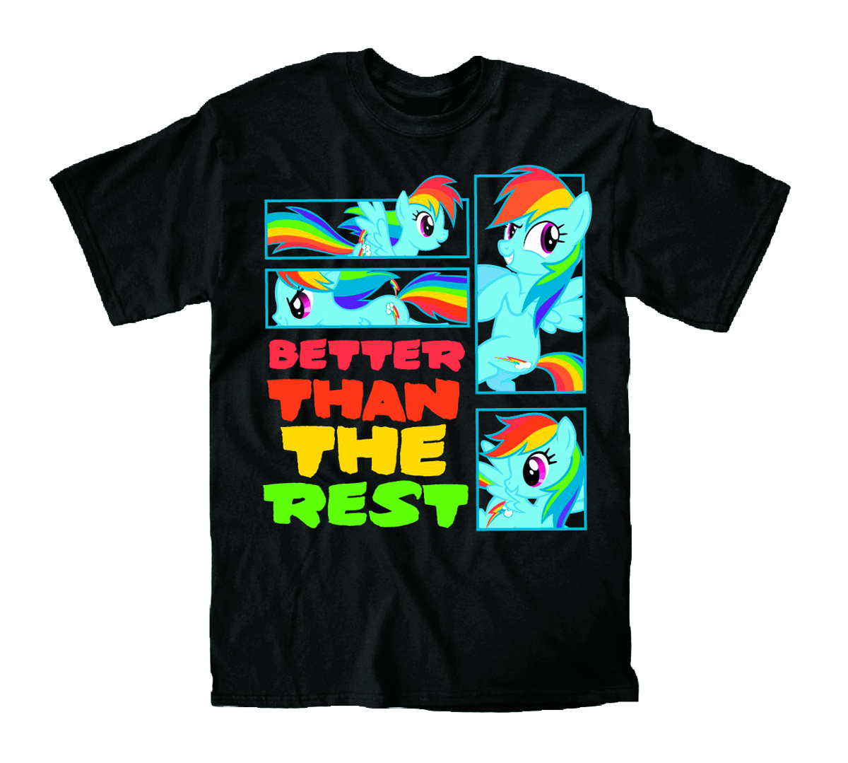 MY LITTLE PONY BETTER THAN THE REST BLK T/S MED