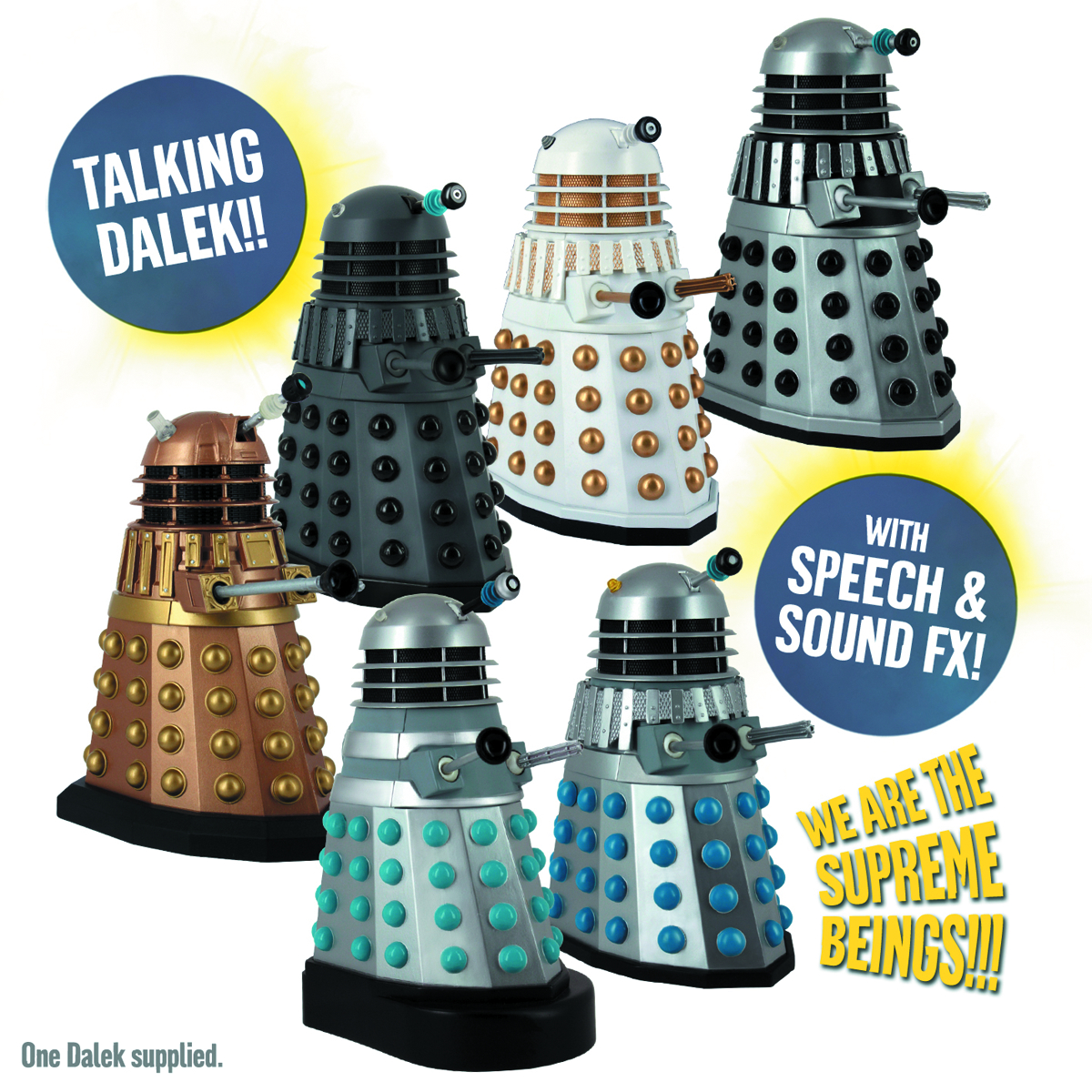 DOCTOR WHO EFX DALEK AF 6PC ASST