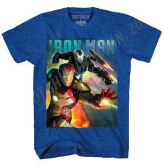 IRON MAN 3 BLAST TEAM-M PX NAVY HEATHER T/S XL