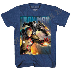 IRON MAN 3 BLAST TEAM-M PX NAVY HEATHER T/S XXL
