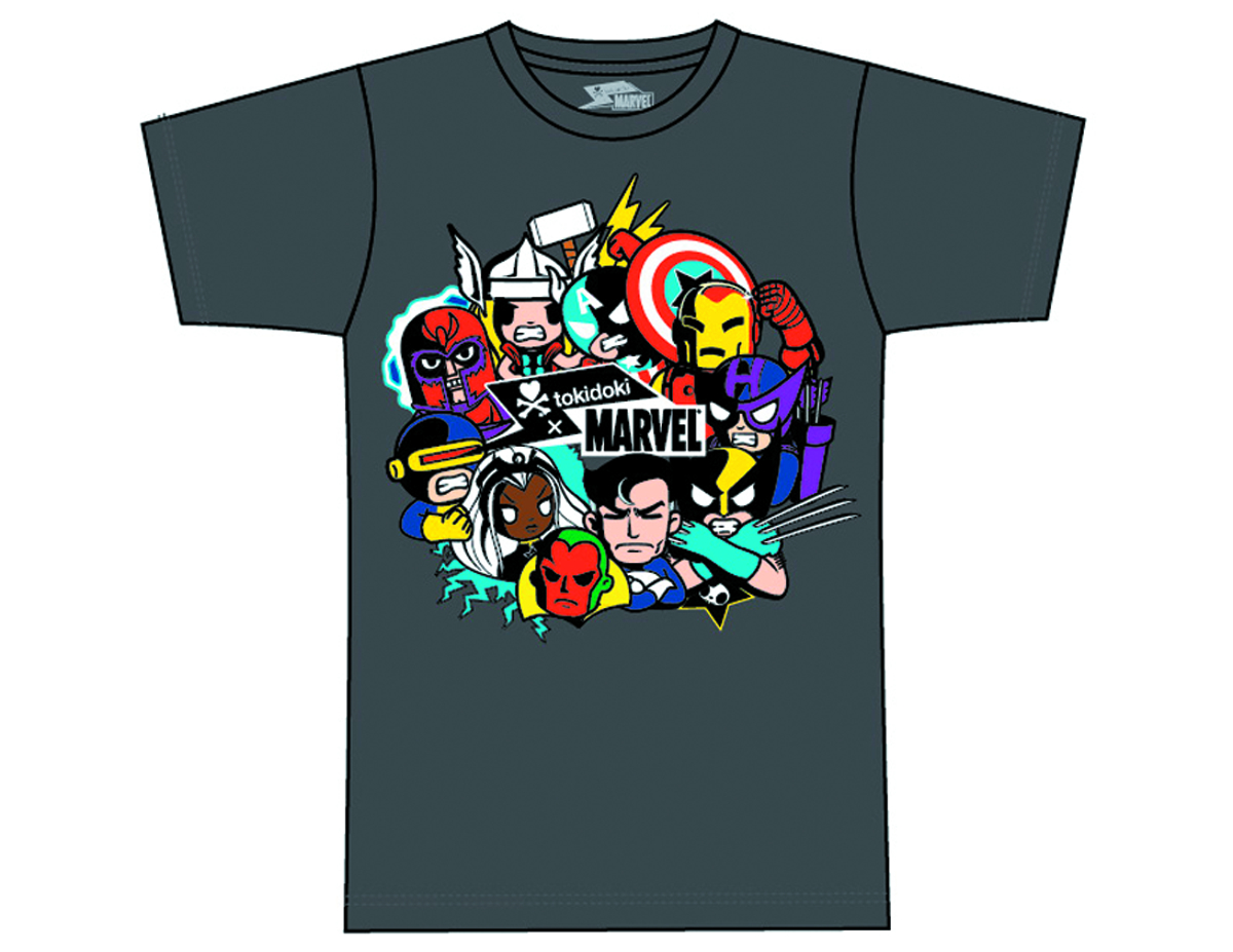 MARVEL X TOKIDOKI ALL POWERFUL T/S XL