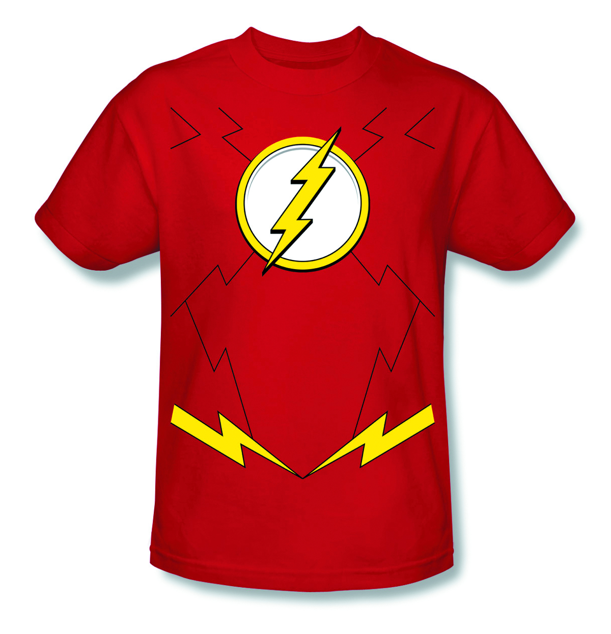 FLASH NEW 52 COSTUME T/S LG